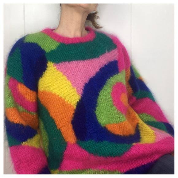 17c33ddf6d8ecb American Vintage Sweaters - VTG Retro 80's Classiques Mohair Oversized  Jumper